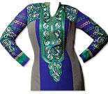 Royal Blue/Grey Georgette Suit- Indian Semi Party Dress