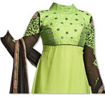 Lime Green Chiffon Suit- Pakistani dresses