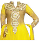 Yellow Chiffon Suit- online dresses