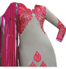 Grey/Pink Georgette Suit- Indian Semi Party Dress
