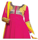 Shocking Pink/Yellow Georgette Suit- online dresses