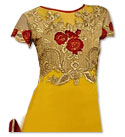 Yellow/Maroon Georgette Suit- Indian Semi Party Dress