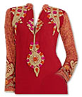 Red Georgette Suit- Pakistani dress