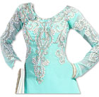 Sea Green Georgette Suit- Indian Semi Party Dress
