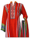 Orange Cotton Lawn Suit- Pakistani casual dress