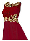 Maroon Chiffon Suit- Indian Semi Party Dress