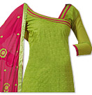Parrot Green/Magenta Georgette Suit