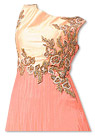 Peach Chiffon Suit- Indian Semi Party Dress