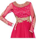 Hot  Pink Chiffon Suit- Indian Semi Party Dress