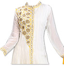 White/Mustard Chiffon Suit- Indian Dress