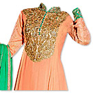 Peach/Green Georgette Suit- online clothing