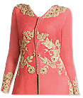 Tea Pink/Beige Chiffon Suit- Indian Semi Party Dress