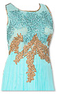 Sky Blue Chiffon Suit- Indian Semi Party Dress