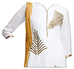 White Georgette Suit- Pakistani Casual Clothes