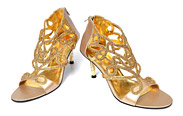 Golden Ladies Shoes