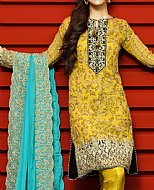 Gold Yellow/Mustard Chiffon Suit