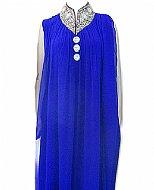 Royal Blue Chiffon Suit- Indian Semi Party Dress