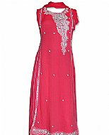 Brink Pink Chiffon Suit- Indian Dress