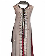Beige/Maroon Chiffon Suit- Indian Dress