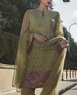 Olive Green Chiffon Suit