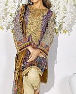 Ivory/Purple Lawn Suit