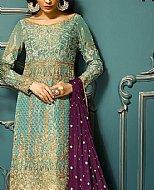 Turquoise/Mauve Chiffon Suit