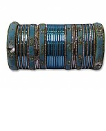 Metallic Bangles - Turquoise