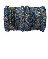 Metallic Bangles - Blue