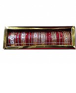 Metallic Bangles - Red/Golden