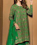 Green Karandi Lawn Suit