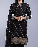 Black Cotton Karandi Suit