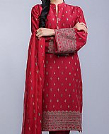 Maroon Cotton Karandi Suit