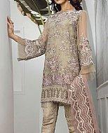 Ivory Chiffon Suit