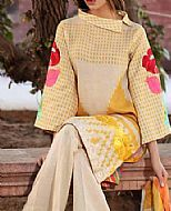Cream Karandi Lawn Suit