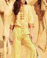 Yellow Swiss Voile Suit