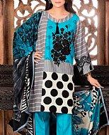 Turquoise Khaddar Suit