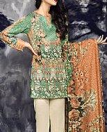 Green Linen Suit- Pakistani winter dress