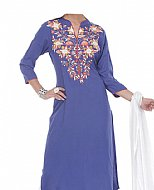 Blueberry Georgette Suit- casual clothing