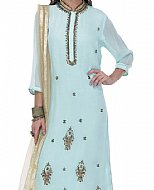 Light Turquoise Georgette Suit- Pakistani Casual Clothes