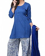 Royal Blue Georgette Suit- Pakistani Casual Clothes