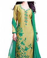 Mehdi/Sea Green Georgette Suit- Indian Semi Party Dress