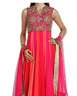 Magenta/Hot Pink Georgette Suit- Indian Semi Party Dress