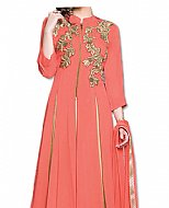 Peach/Pink Chiffon Suit- Indian Semi Party Dress