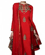 Red Silk Suit- Pakistani suits
