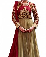 Olive/Maroon Net Suit- Indian Dress