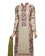 Ivory Chiffon Suit- Indian Semi Party Dress