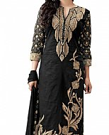 Black Cotton Suit- Indian Semi Party Dress