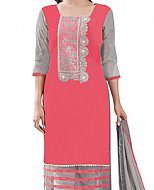 Carrot Pink Georgette Suit- Indian Semi Party Dress
