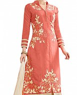 Peach Cotton Suit- Indian Semi Party Dress