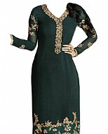 Bottle Green Chiffon Suit- Indian Dress